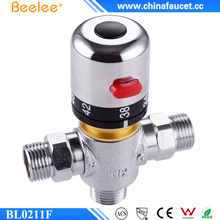 "Beelee 1/2"" Brass Thermostatic Shower Mixer Valve,Thermostatic Mixing Valve For Solar/Electrical Water Heaters"