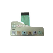 Metal Dome Waterproof Membrane Switch keyboard keypad for Toilet Equipment