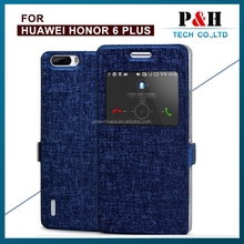 For Huawei Honor 6 Ultra Thin Stand Wallet PU Leather Smart Phone Protective Case With Card Holder Magnetic Closure Cover Bag