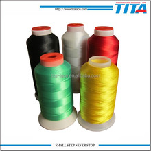 100% Polyester glow in the dark fluorescent embroidery thread