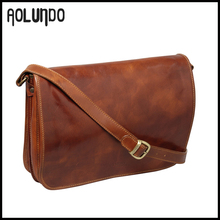 Top Grade Leather Leather Messenger Bag