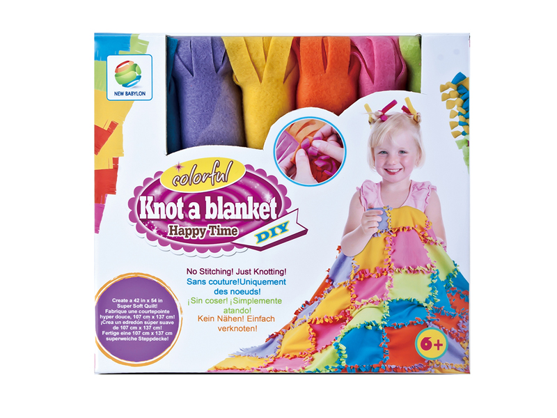 2019 Amazon hot selling toy DIY girls knotting blanket quilt toy