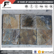 Popularly used material yellow rusty color paving stone tiles factory flooring slate