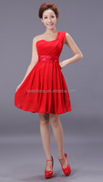 Sexy Women Short Sleeve Fashion Party Cocktail Red Evening Dress