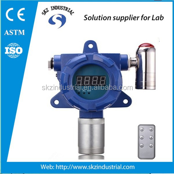 Fixed online testing gas leak detector alarm