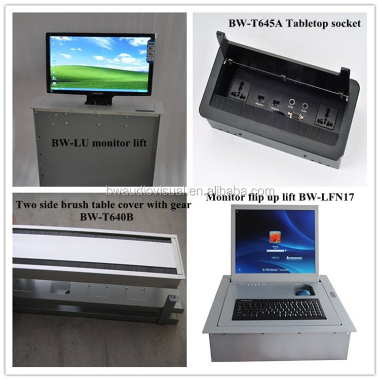 BW-LFM19 tabletop monitor lift box 120 degrees turnover