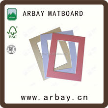 Photo frame mat board single opening matboard photo frame back board white cardboard photo frame 8x10