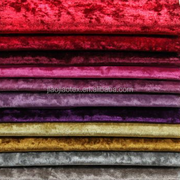 Knitted Polyester spandex solid diamond velvet sofa fabric