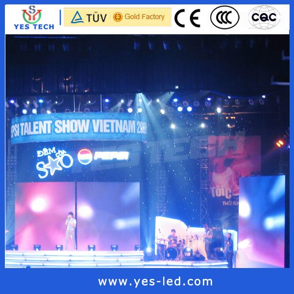 P5 cabinet indoor led conference screen curtain billboard display