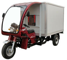 chinese three wheel motorcycle with cargo van