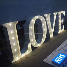 cheap! romantic custom LOVE letters for decoration LED big marquee light letters sign