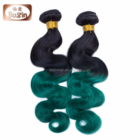 New Textures Soft Body Wave Brazilian Human Hair Weave Dark Green Expression Braiding Hair