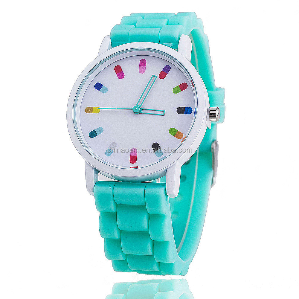 Ice Cream Lady Watch Best Gift Silicone Watch Geneva Silicone Lady Dress watch