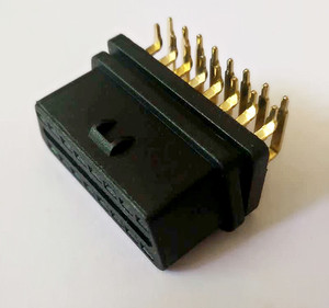 RIGHT ANGLE,90 degree J1962/OBD OBDII 16 pin female connector, connector core,ST-SOF 018A