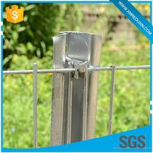 Strong welded points and bright luster anti climb used fence panels