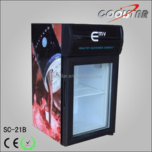 OEM commercial glass door mini cabinet refrigerator