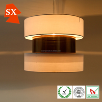 attractive newest design three layers white copper hanging light shade