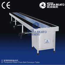 China machinery hot sale ST stainless steel nylon belt conveyor table
