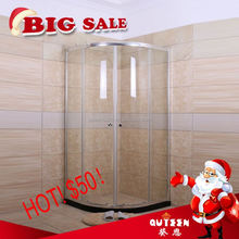 Sales promotion!Queen-bath JR8416 high quality cheap 4mm tempered glass outdoor steam shower room