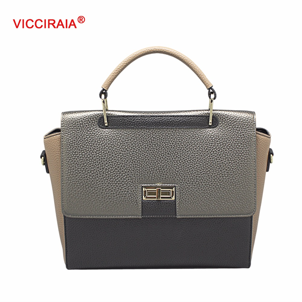 VICCIRAIA Women Luxury Handbags New Stylish Female Shoulder Bags 2016 New Ladies PU Leather Messenger Bags Casual Totes