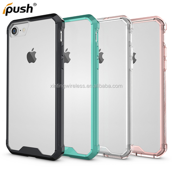 Factory low priceTransparent crystal slim armor phone case customized cases for iPhone 7