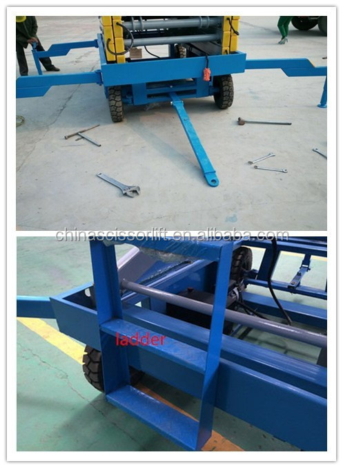 Hydraulic Mobile Electric Drive Scissor Lift Price for general industri equip