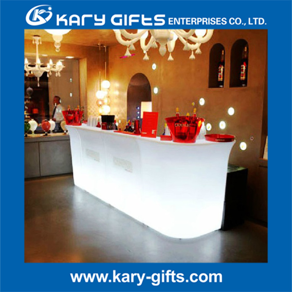 wholesale remote control plastic led bar table led bar counter