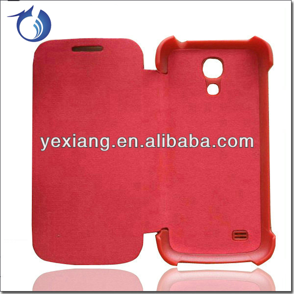 Custom flip cover leather case for samsung galaxy s4 mini