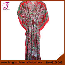 08206C03 2015 Newest Style Summer Fat Woman Full Length Cotton Moroccan Caftan