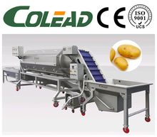 industrial potato washing peeling selecting cutting machine from Shandong Colead