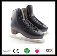 Black color factory price racing ice skates