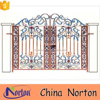 Indian Art Villa House Main Iron Square Tube Gate Designs Iron ...