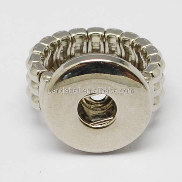 Platinum Color Stretch Snap Ring Jewelry(PALLOY-<strong>R009</strong>)