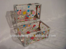 Printing transparent Acrylic plate jewelry cosmetics make up packing aluminum case