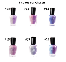 OEM products Nail Polish private label 6colors Light Change cosmetics make up factory 2018 hot sell beautiful Oily Nail Polish