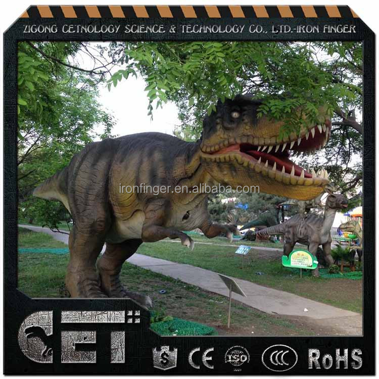 CET-A-992 artificial dinosaur statue dinosaur swing kids dinosaur big toys for sale