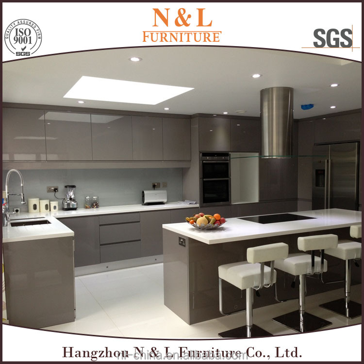 Best Selling Integrated Furniture Modern Design Cabinet Kitchen Miami