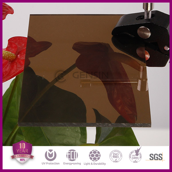 Bronze Polycarbonate Sheets Solid Flat PC Panels Colored 3mm 1220*2440mm 2050*3050mm Anti-UV Coating