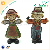 2017 seasonal gifts Harvest table pieces for Thanksgiving Day scarecrow decor