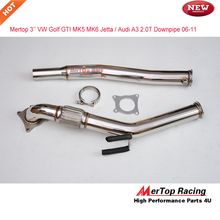 Mertop 3'' VW Golf GTi Jetta Aud* A3 Turbo Catless Downpipe Exhaust 2.0T Decat Catless