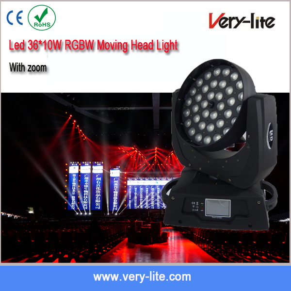 Wholesale night club lighting white/rgbw mini 36PCS10w led moving head beam Light