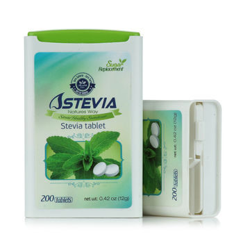 White Stevia Tablets Sugar