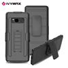 IVYMAX heavy duty belt clip silicon plastic back cover phone case for samsung galaxy note 8
