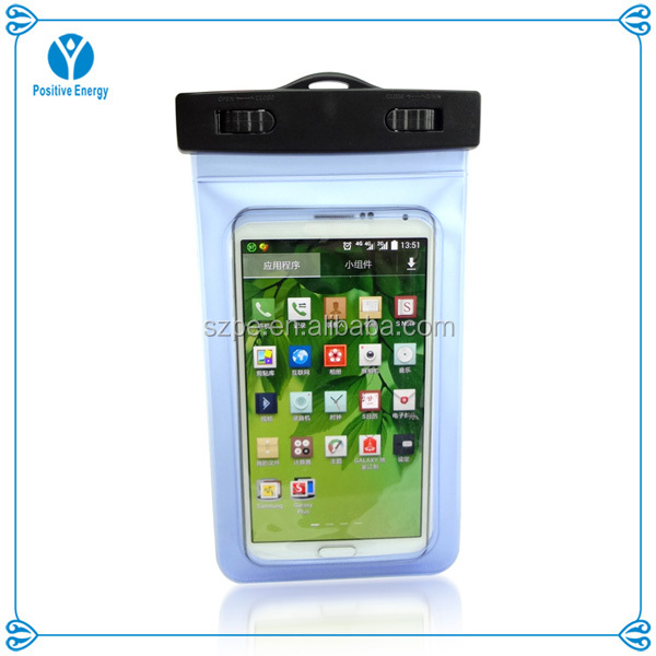 PVC waterproof cell phone cases