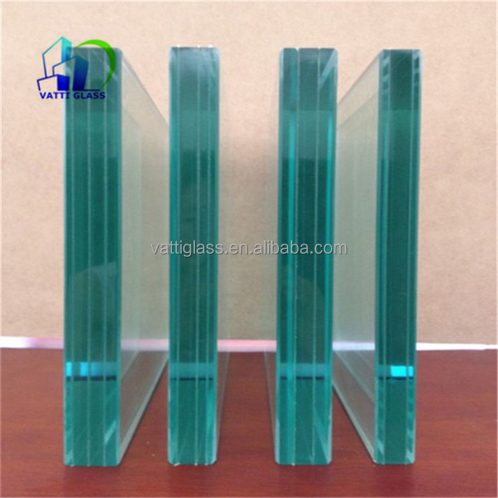 Beautiful decorative pvb fabric tinted laminated glass for art curtain wall