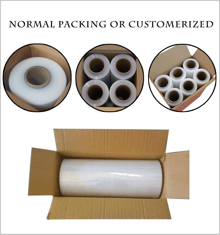 small piece handle roll wrap film 200mm hand lldpe film