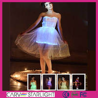 New fit slim girls luminous led lighting short lace evening dresses