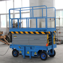 Electric mobile hydraulic scissor aerial lifter