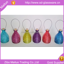 Hanging Colored Glass Fly Wasp Trap with Handle insect catcher
