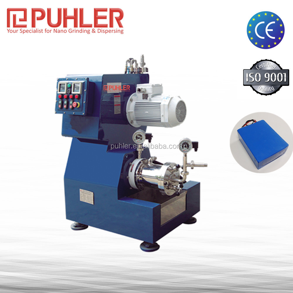 PUHLER Battery Industrial Materials Bead Mill / Sand Mill Machine / Grinding